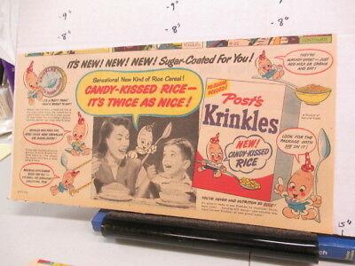 newspaper ad 1951 POST Rice Krinkles cereal box DIAL deod soap blond pinup girl