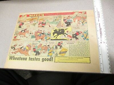 newspaper ad premium 1930s comic strip WHEATENA cereal box free sample CIRCUS