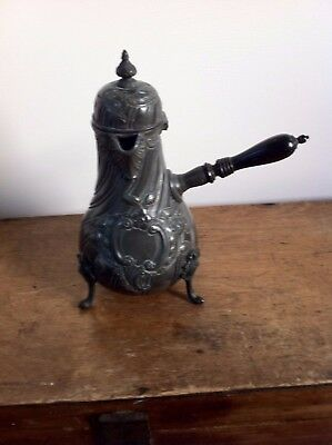 LOVELY DECORATIVE ANTIQUE PEWTER COFFEE POT 9.2 inches