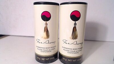 Avon Far Away Shimmering Body Powder NEW!!  Lot of 2.