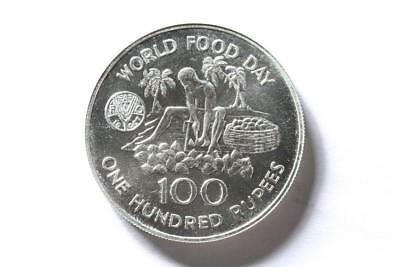 FAO / F.A.O. Seychelles  - 100 Rupees 1981 - uncirculated - silver