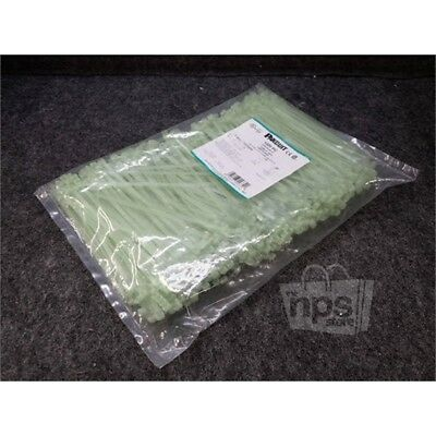 "Lot of 1000 Panduit CBR2S-M39 Contour-Ty Cable Ties, Parallel Entry, 7.6"", Green"