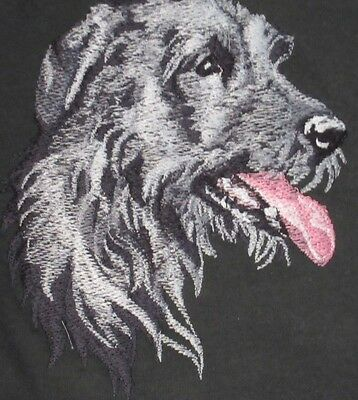 Large Embroidered Zippered Tote - Irish Wolfhound BT3590