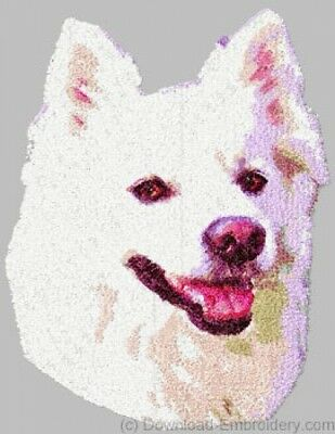 Large Embroidered Zippered Tote - American Eskimo DLE1464