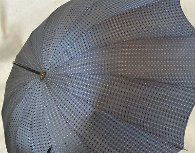 umbrella parasol vintage blue Lucite handle very good condition 1940