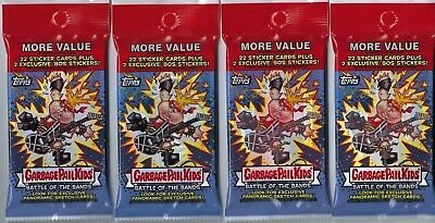 (4) 2017 Topps Garbage Pail Kids #2 Battle Of The Bands Cards 24ct Fat Pack LOT