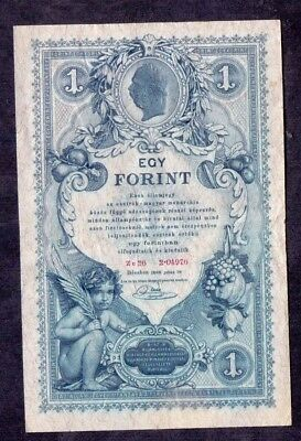 1 Forint From Austria Hungary 1888 XF