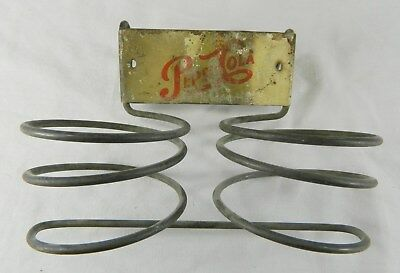 Vintage Pepsi-Cola Coil Wire Two Place Shopping Cart Bottle Holder