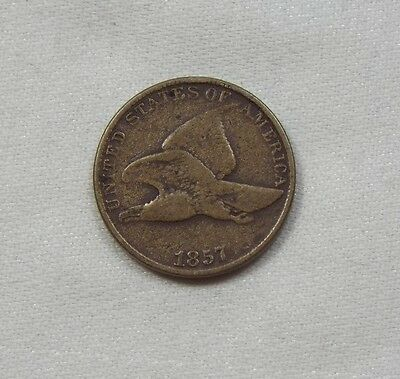 1857 Flying Eagle Small Cent FINE 1c