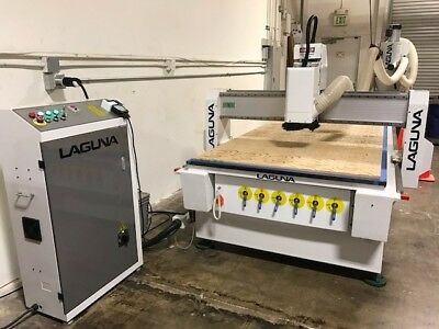 48x96 Laguna Smart Shop I CNC Router with Vacuum, Bits and More. Lightly used.