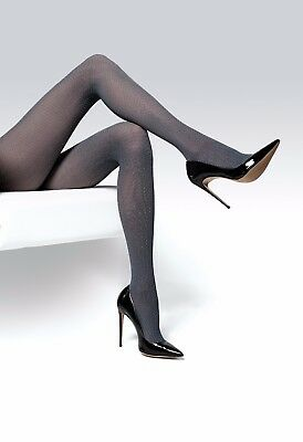 9a154c6ab6b1d Ladies Patterned Foxy Grpahite Tights Pantyhose Thick Elegant Winter Hosiery  T70