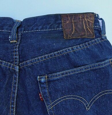 Mint Levi's Real 1st Edition 1954 501ZXX 501Z Big E Leather Patch Conmar Zipper