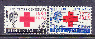Hong Kong postage stamps - 1963 Red Cross Commems 2 x Used