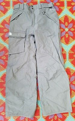 The North Face Gray Freedom HyVent Snowboard Pants Men's Size Medium