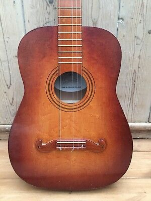 Vintage Acoustic Guitar Hand Made English Guitar By Arnold Sussex Beautiful Wood