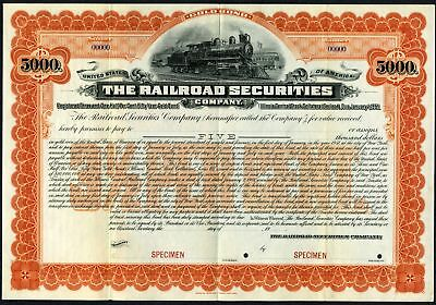 Railroad Securities Co. 1901 Specimen Bond