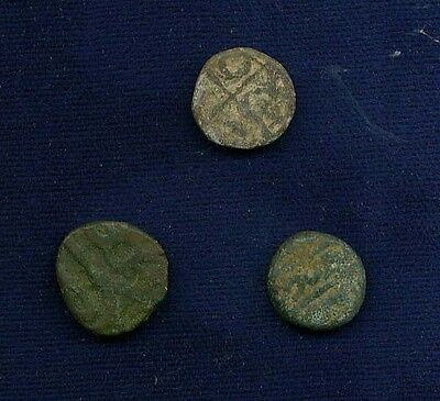 Ancient / Old Coins From India, Group Lot Of (3), Kangra Dynsty, Anthra Dynasty