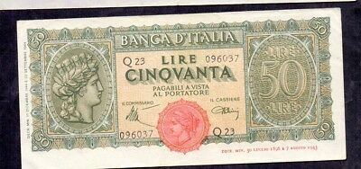 50 Lire From Italy 1944