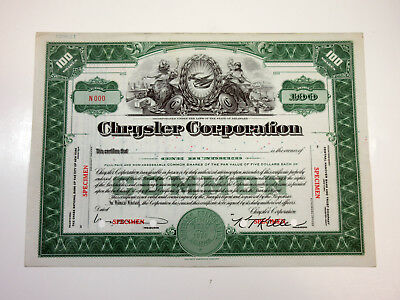 Chrysler Corporation ca.1932 SPECIMEN Comon Stock Certificate POC ABNC AU+