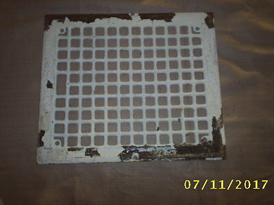 #19 Vintage Stamped Steel Wall Heat Grate Register Vent ID 12X10 Arts & Crafts