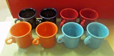 FIESTA DINNERWARE FIESTA Ware Coffee Cups Lot Of 8 Cups Mixed Color Set