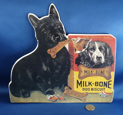 MILK-BONE DOG BISCUIT paper die cut advertising SCOTTISH TERRIER 1991Nabisco
