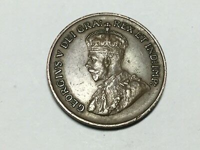 CANADA 1935 1 cent coin very nice condition