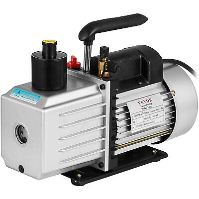 8CFM Two-Stage Rotary Vane Vacuum Pump 15Micron 1HP Oil Reservoir Professional