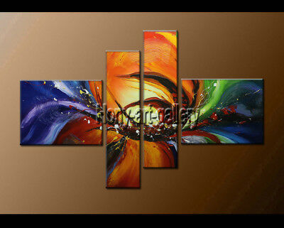 Framed Large Modern Abstract Oil Painting On Canvas Contemporary Art Wall Decor