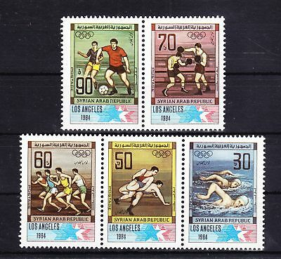 Syrien 1594-1598 ** postfrisch Olympia 1984 Los Angeles, MNH #RB502