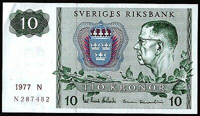 10 Krone From Sweden 1972 MM11 Unc