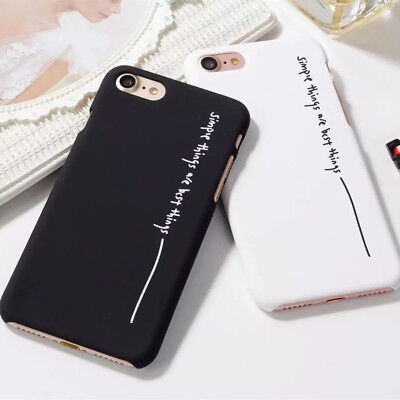 Simple Style Letter Hard Phone Cases Cover For iPhone X For iPhone 6s Plus 8 7 6