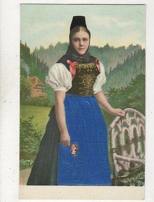 European Costume Vintage Embossed U/B Postcard 425b