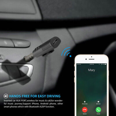 3.5mm Adapter Mic Wireless Bluetooth AUX Audio Stereo Music Home Car Receiver U