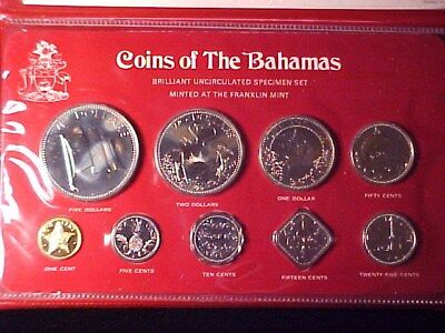 Bahamas 9-Coin Specimen Mint Set 1978 Scarce Only 767 Issued