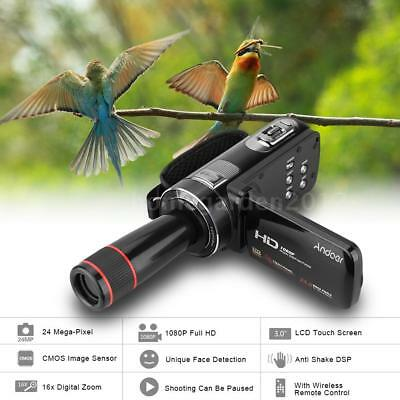 "4K Ultra Full HD Camcorder 3"" Touch Screen Video Camera 24MP Anti-Shake US Stock"
