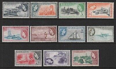 QEII  BARBADOS 53 set to 60c fresh vlmm cat £50