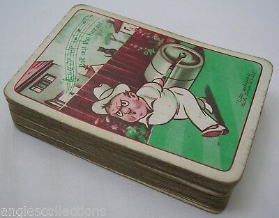 Complete Pack 52 Playing Cards Roll Out The Barrel Keith Rowse UNIVERSAL Vintage