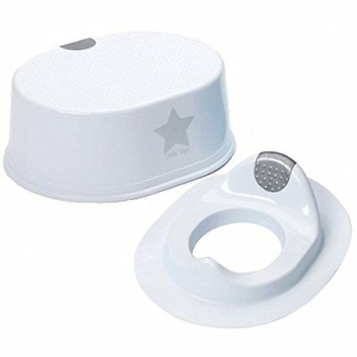 Strata deluxe silver lining toilet training seat with step little angel combo