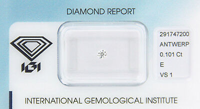 Diamant 0,101 ct E VS 1 IGI Zertifikat  - Sealed -