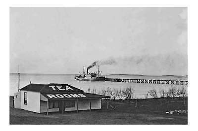 South Australia TUMBY BAY Wharf steamship Tea Rooms 1920 modern digital Postcard