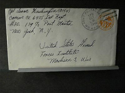 APO 179 BEYREUTH, GERMANY Army Postal History Cover 1946 CANON Co 6975 INFANTRY