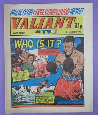 Valliant And TV21 Comic 1st December 1973, John Conteh On Cover