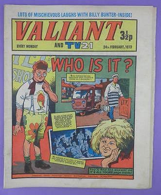 Valliant And TV21 Comic 24th February 1973, Benny Hill On Cover