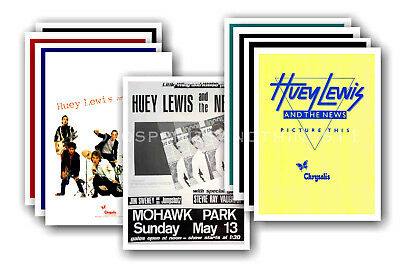 HUEY LEWIS & THE NEWS - 10 promotional posters  collectable postcard set # 1