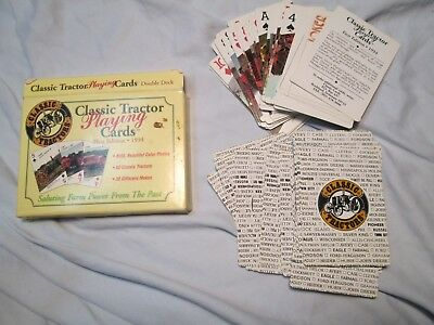 Vtg 1994 Playing Cards Double Set  Classic Tractors Hoyle 1st Edition nr
