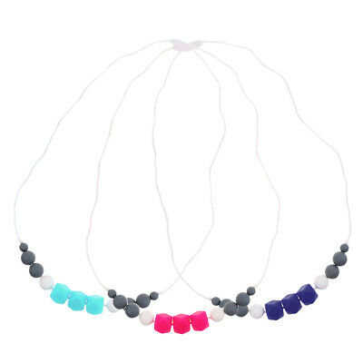 CPSIA Compliant BPA Free Baby Beads BCIA Silicone Teething Necklace