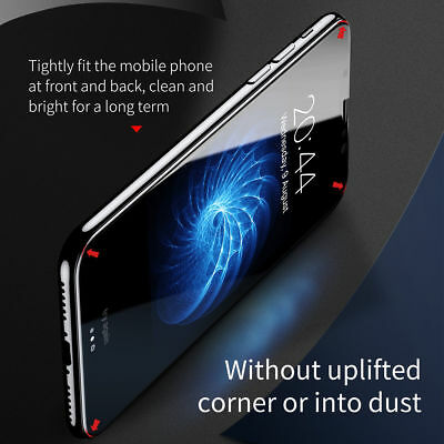 3D Curved Edge Front & Back Tempered Glass Screen Protector For iPhone X