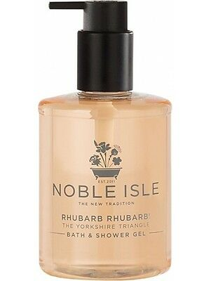 Noble Isle Rhubarb Rhubarb Shower Gel (250ml) NEW & A Free Molton Brown 30ml