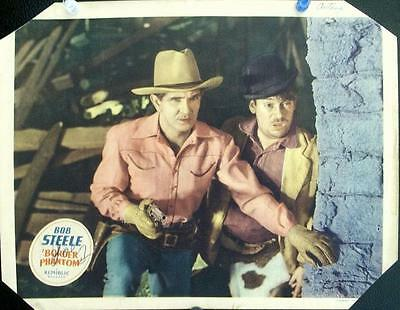 Cowboy Western Fave Bob Steele Lot Of Two Orig Us Lobby Cards Republic Pictures